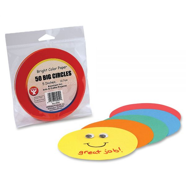 Hygloss Color Paper Circles