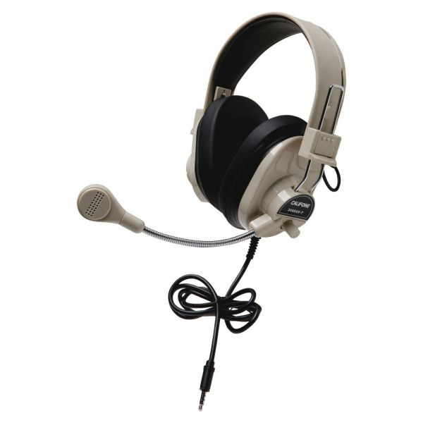 Califone 3066Avt Deluxe Stereo Headset Mic 3.5Mm 3Ft Via Ergoguys