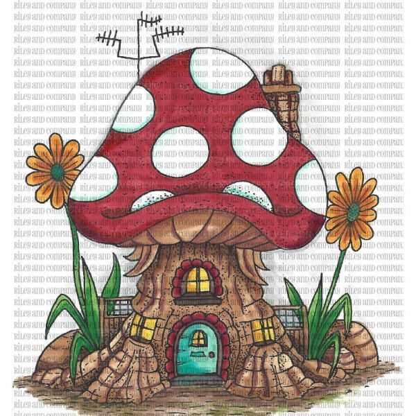"Riley & Company Mushroom Lane Cling Stamp 3.5""X4.25"""