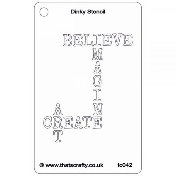 "That's Crafty Dinky Stencil 3""X4.75"""