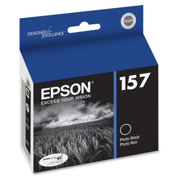 Epson UltraChrome K3 157 Photo Black Ink Cartridge (T157120)