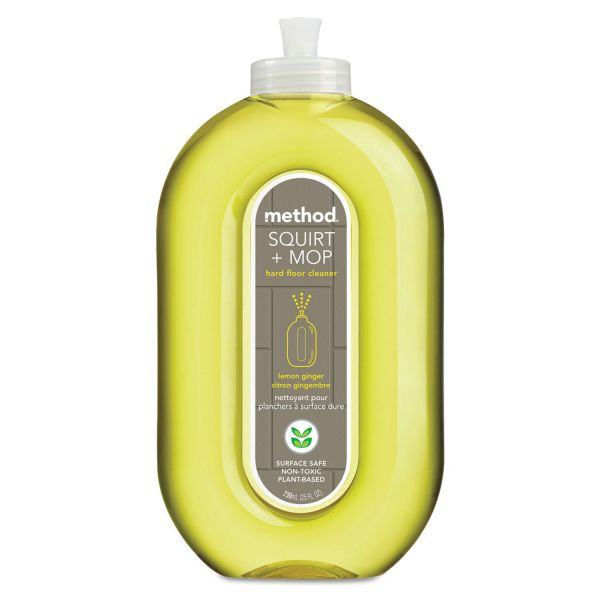 Method Squirt + Mop Hard Floor Cleaner, 25 oz Spray Bottle, Lemon Ginger Scent