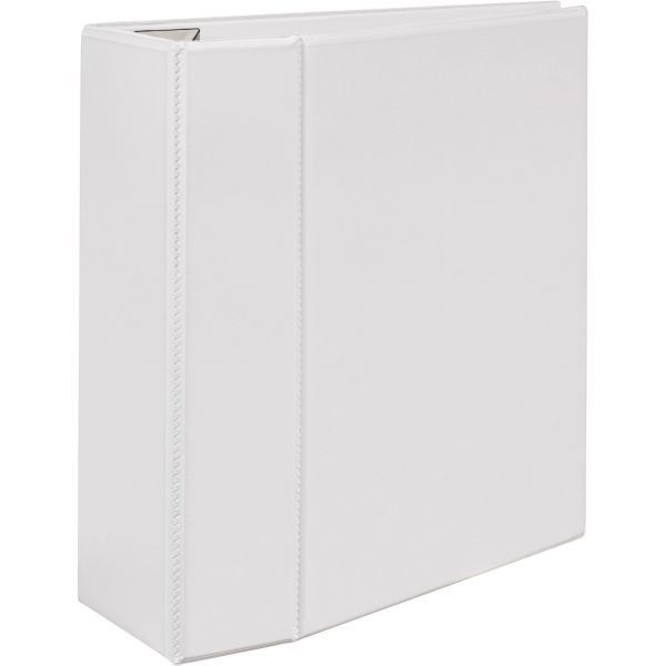 """Avery Heavy-Duty 3-Ring View Binder w/Locking 1-Touch EZD Rings, 5"""" Capacity, White"""