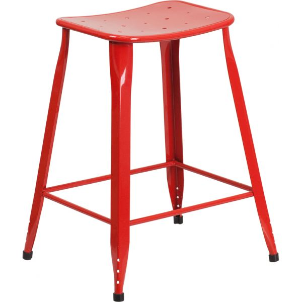 Flash Furniture 24'' High Metal Indoor-Outdoor Counter Height Stool