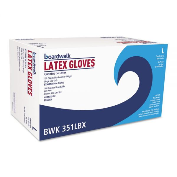 Boardwalk Disposable Latex Exam Gloves