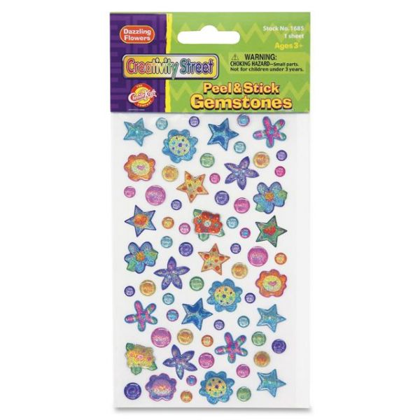 ChenilleKraft Peel & Stick Dazzling Flowers Gemstone Stickers