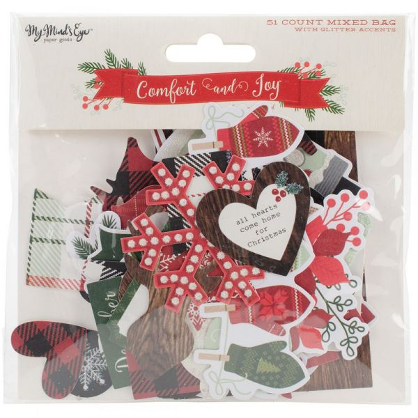 Comfort & Joy Mixed Bag Cardstock Die-Cuts 51/Pkg