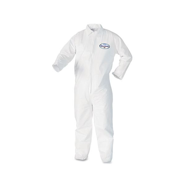 KleenGuard* A40 Coveralls, White, Large, 25/Case
