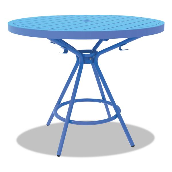 "Safco CoGo Tables, Steel, Round, 36"" Diameter x 29 1/2"" High, Blue"