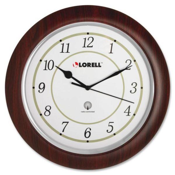 Lorell Radio Control Wood Wall Clock