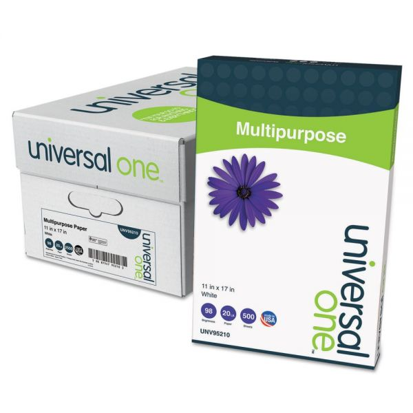 "Universal Multi-Purpose White 11"" x 17"" Copy Paper"