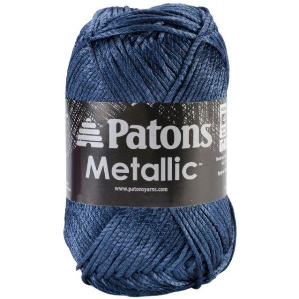 Patons Metallic Yarn - Blue Steel