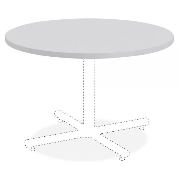 Lorell Round Invent Tabletop - Light Gray