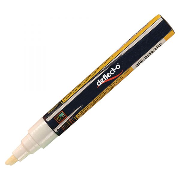 deflecto Liquid Chalk Marker, Chisel, White, 4/Pack