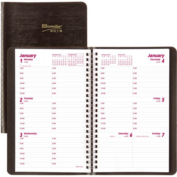 Brownline 2PPW Telephone/Address Weekly Planner