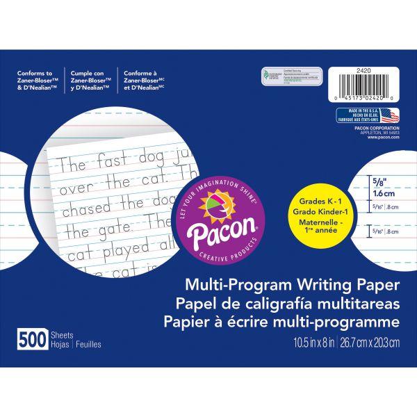 Multi-Program Handwriting Paper