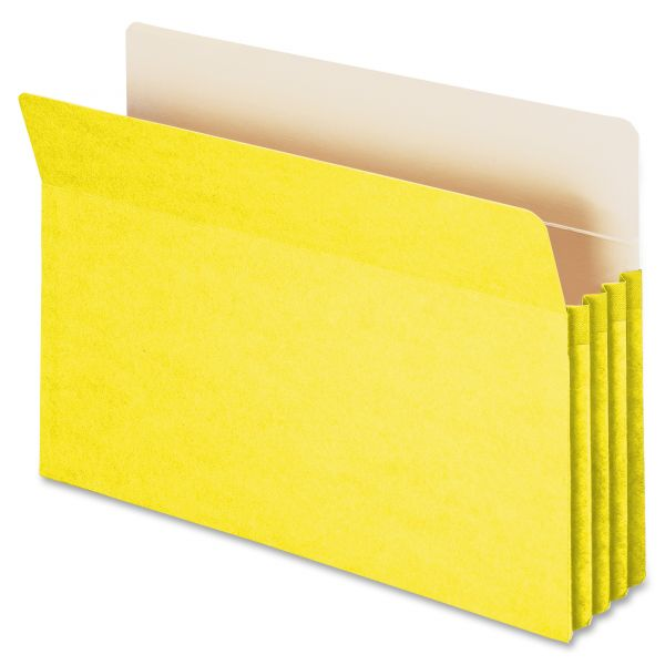 Smead 74233 Yellow Colored Expanding File Pockets