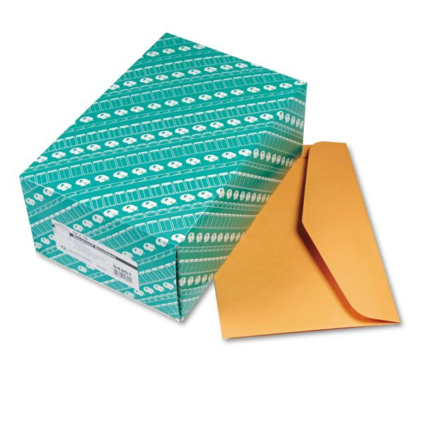 Quality Park Open Side Booklet Envelope, 15 x 10, Brown Kraft, 100/Box