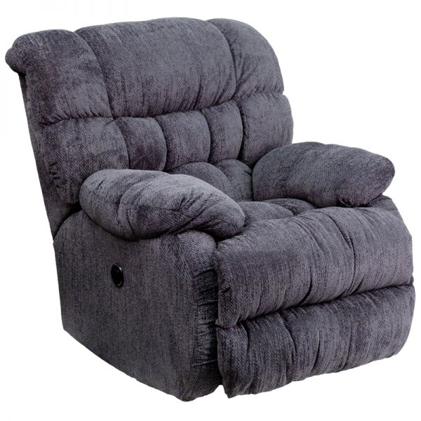 Flash Furniture Contemporary Columbia Indigo Blue Microfiber Power Recliner with Push Button