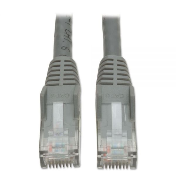 Tripp Lite CAT6 Snagless Molded Patch Cable, 10 ft, Gray
