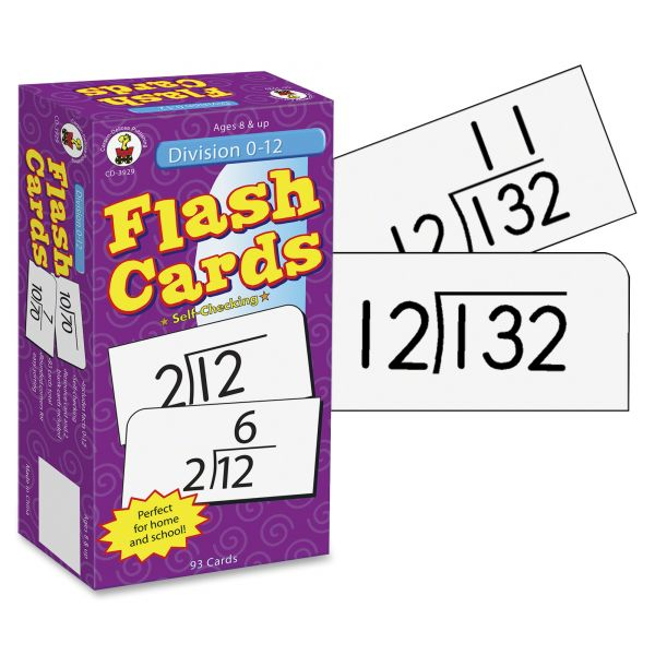 Carson-Dellosa Publishing Division Facts 0-12 Flash Cards w/Round Corners, 6 x 3, 93 Two-Sided Cards/pack