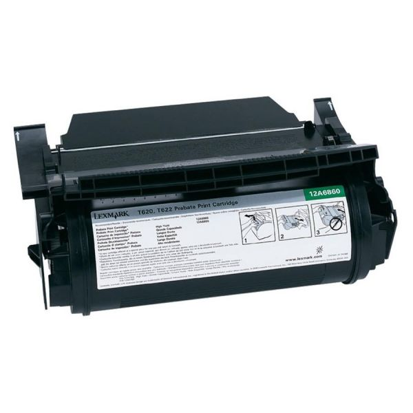 Lexmark 12A6860 Black Return Program Toner Cartridge