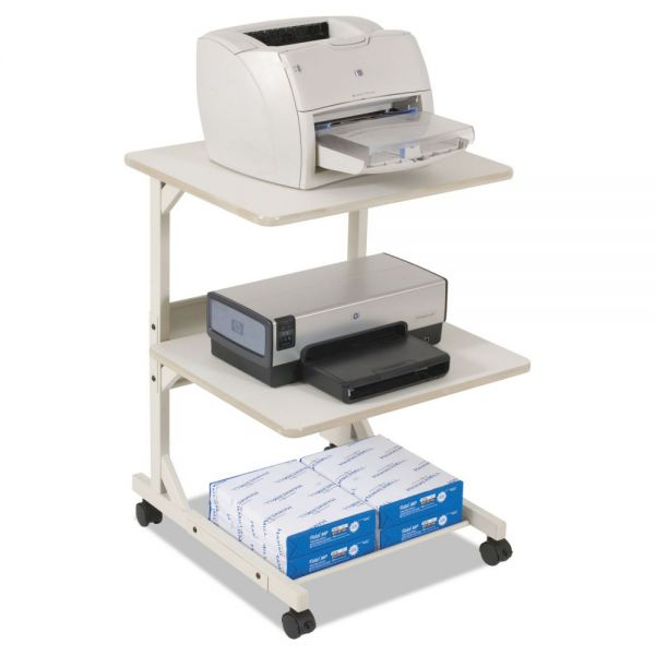 BALT Dual Laser Printer Stand with Three Shelves, 24 x 24 x 33, Gray