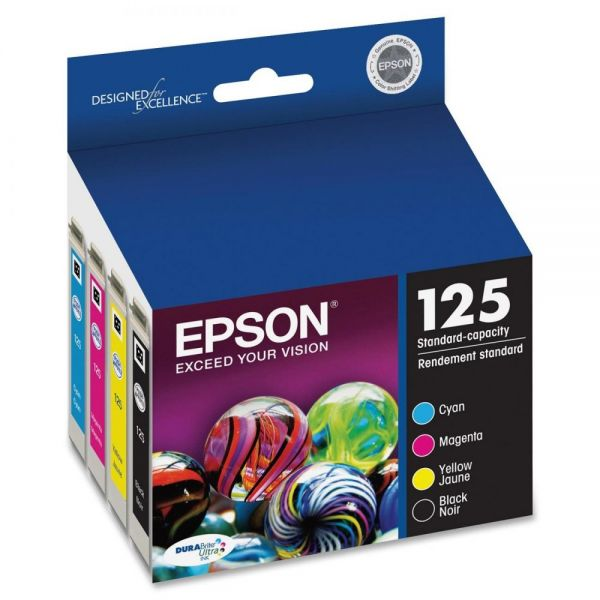 Epson 125 Black/Color Combo Pack Ink Cartridges (T125120-BCS)