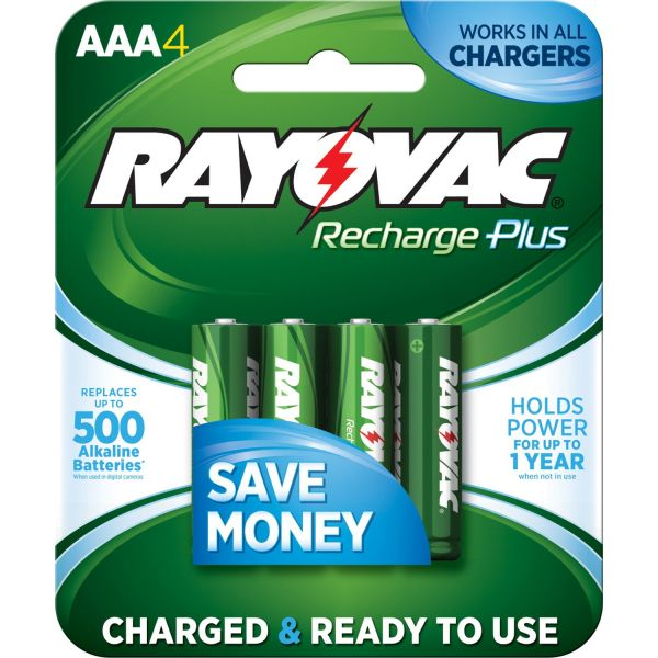 Rayovac Recharge Ready To Use Batteries