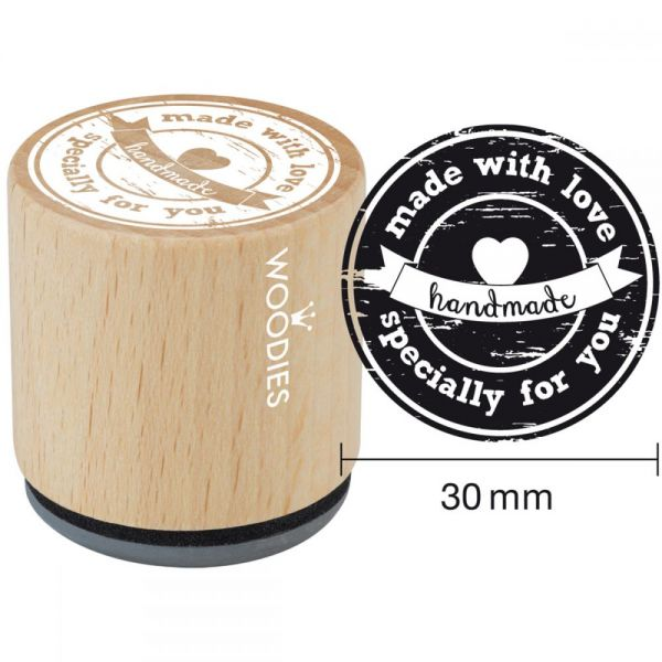 Woodies Mounted Rubber Stamp 1.35""