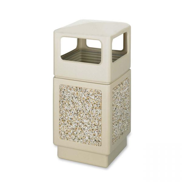 Safco Canmeleon Aggregate 38 Gallon Trash Can