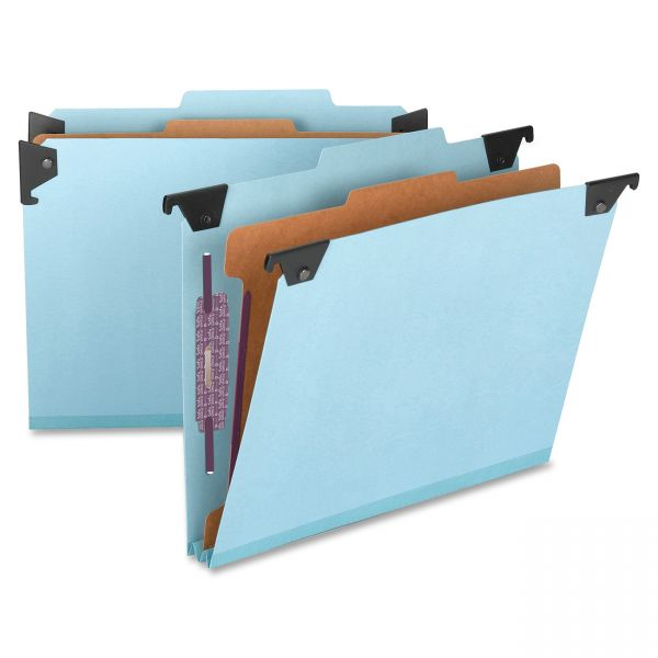 Smead 65105 Blue Hanging Pressboard Classification File Folders