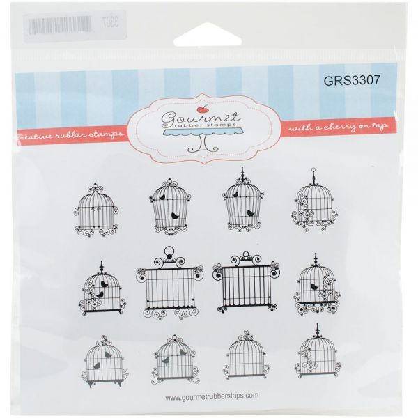 "Gourmet Rubber Stamps Cling Stamps 6.5""X6.5"""