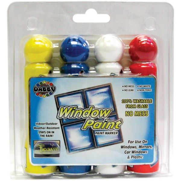 Window Paint Markers 1.4oz 4/Pkg