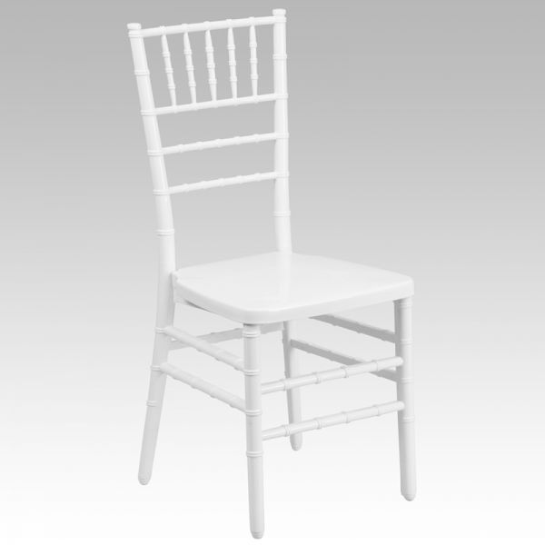 Flash Furniture White Resin Chiavari Chair