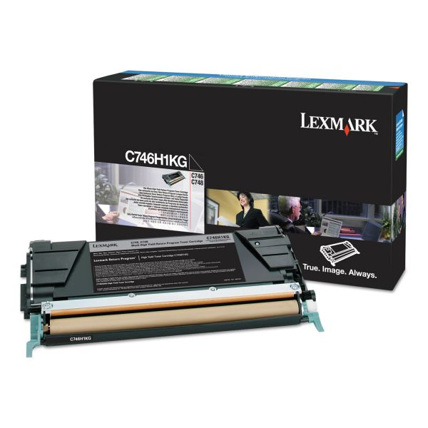 Lexmark C746H1KG High-Yield Toner, 12000 Page-Yield, Black