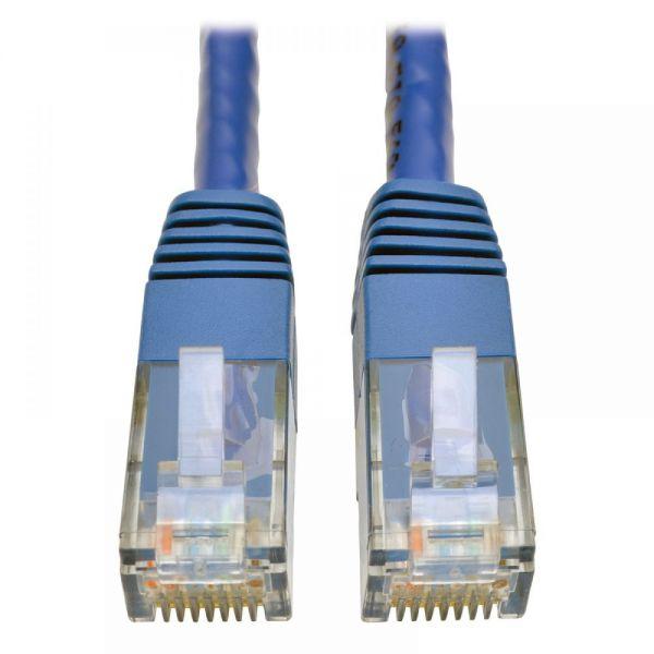 Tripp Lite Cat6 Gigabit Molded Patch Cable (RJ45 M/M), Blue, 5 ft