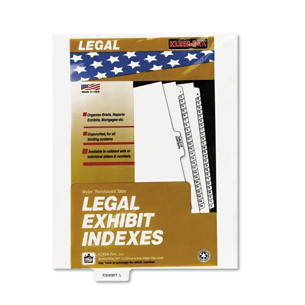 Kleer-Fax 80000 Series Bottom-Tab Legal Exhibit Index Dividers