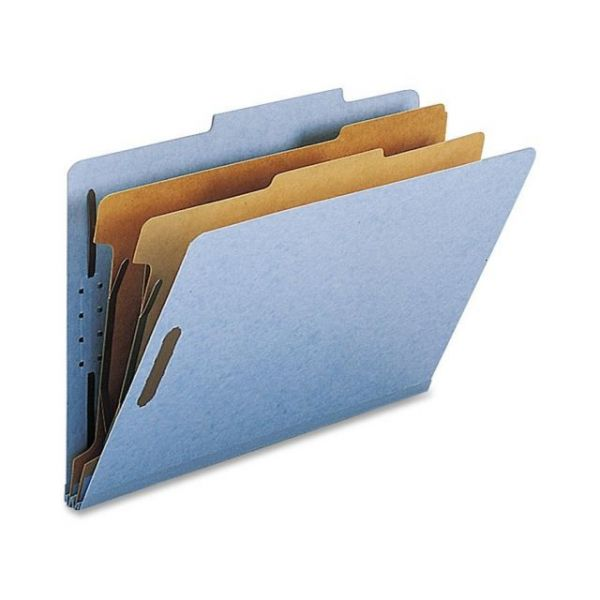 Nature Saver Blue 2-Divider Classification Folders