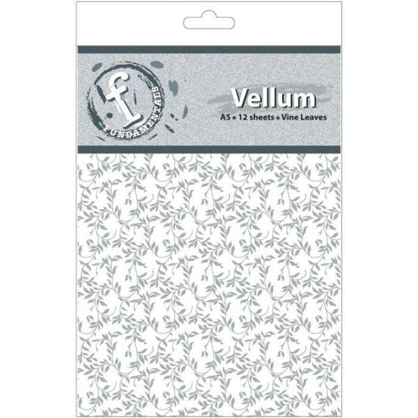 """Fundamentals A5 Vellum Sheets 8.3""""X5.8"""" 12/Pkg"""