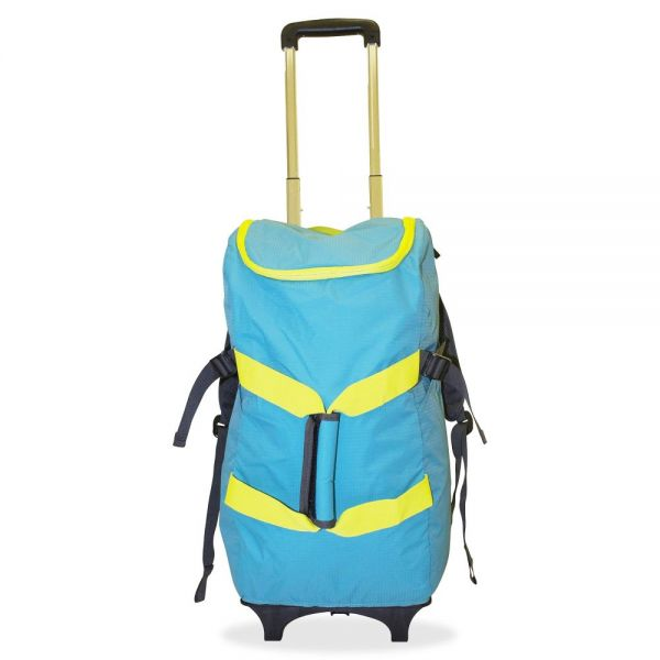 """Dbest Smart Travel/Luggage Case (Rolling Backpack) for 17"""" Notebook, Travel Essential - Blue, Yellow"""