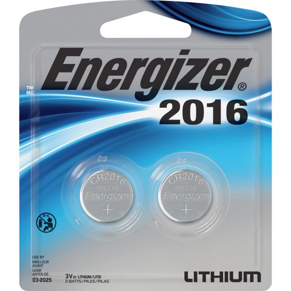 Energizer 2016 3V Watch/Electronic Batteries