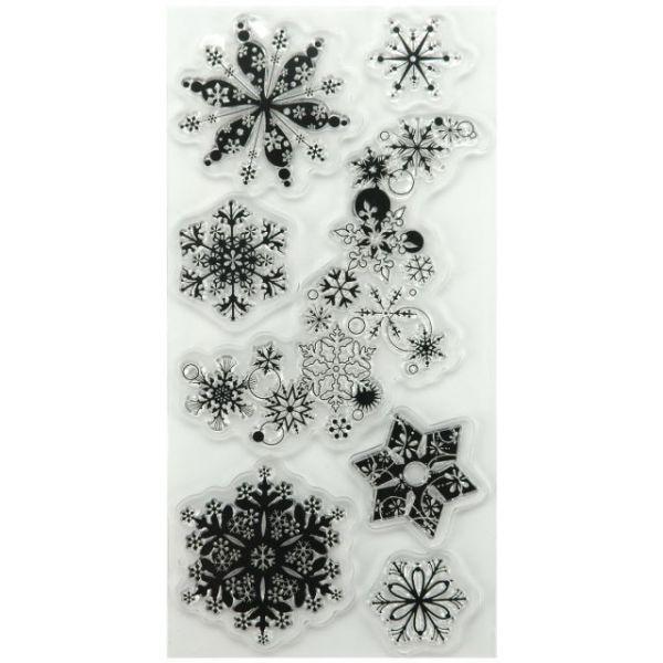 "Inkadinkado Christmas Clear Stamps 4""X8"" Sheet"