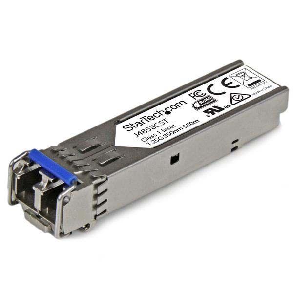 StarTech.com Gigabit Fiber SFP Transceiver Module - HP J4858C Compatible - MM LC with DDM - 550m (1804 ft) - 1000Base-SX