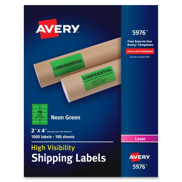 Avery Neon Shipping Labels