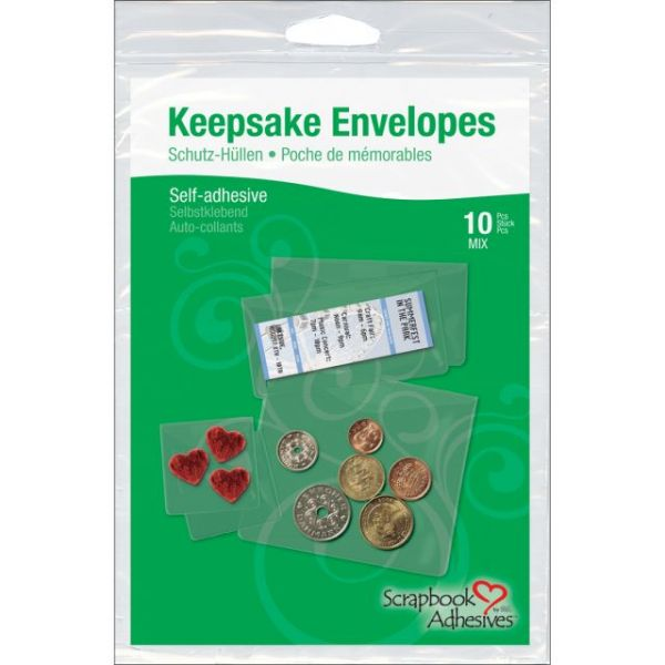 Scrapbook Adhesives Keepsake Envelopes 10/Pkg