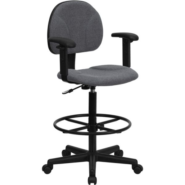 Flash Furniture Ergonomic Drafting Chair with Height Adjustable Arms