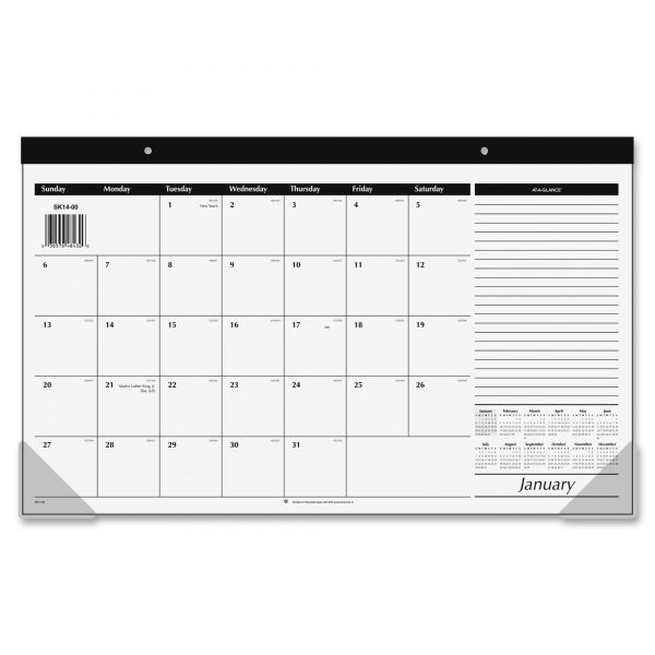 At-A-Glance Compact Monthly Desk Pad Calendar