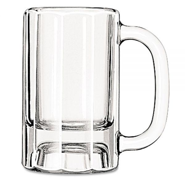 Libbey 10 oz Glass Paneled Mugs