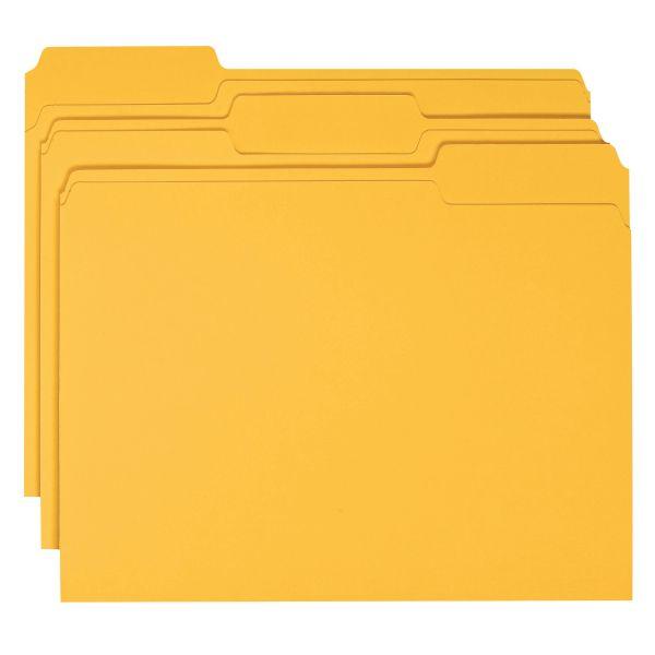 Smead Goldenrod Colored File Folders